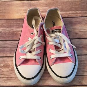 Girls Converse pink sneakers size 12